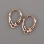 Náušnicové zapínání - VYTUNĚNÉ - Ag925 růžové zlato