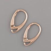 Náušnicové zapínání - Ag925 růžové zlato