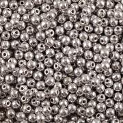 Perličky - 3mm - 150ks - METAL stříbrné