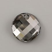 Swarovski Elements přívěsky 6621 – Twist – Silver Night – 18mm