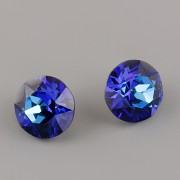 Swarovski Elements XILION Chaton 1088 – Bermuda Blue Foiled – 8mm
