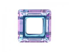 Swarovski Elements 4439 – Square Ring – Vitrail Light – 20mm