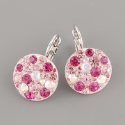 Náušnice CRAZY MAMA s kamínky Swarovski Elements 18mm - růžové