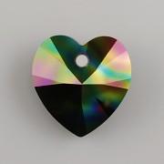 Swarovski Elements přívěsky 6228 – Srdce – Rainbow Dark - 14mm