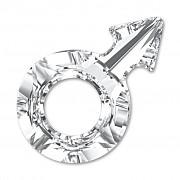 Swarovski Elements 4878 – Male Symbol – Crystal Foiled - 18mm