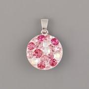 Přívěsek CRAZY MAMA s kamínky Swarovski Elements 18mm - růžový