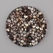 CRYSTAL ROCKS SWAROVSKI samolepící - Peach Gold na černém podkladu - 30 mm