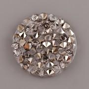 CRYSTAL ROCKS SWAROVSKI samolepící  - Light Metalic Gold na průhledném podkladu - 15mm