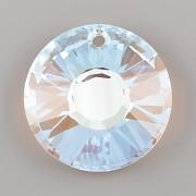 Sluníčkový přívěsek Swarovski Elements 6724 - Crystal Blue AB - 33mm