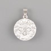 Přívěsek CRAZY MAMA s kamínky Swarovski Elements 18mm - Crystal
