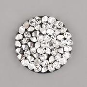 Crystal Rocks Swarovski samolepící - Crystal CAL na ČERNÉM podkladu - 15mm