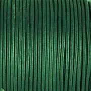 Kožená šňůrka kulatá - stromová zelená 1,5mm