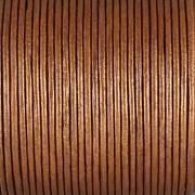 Kožená šňůrka kulatá - metalická meděná 1,5mm