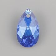 Swarovski Elements přívěsky 6106 – Hruška – Capri Blue AB – 16mm
