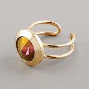 MACATÝ prsten pro Rivoli Swarovski Elements 10mm - pozlaceno