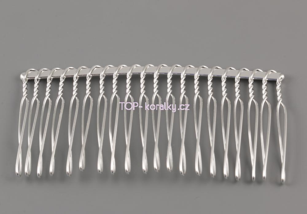 Modistický hřebínek do vlasů kovový - Top-koralky.cz 1cc9c490ef