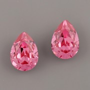 Slzička Swarovski® Crystal 4320 - Rose 8mm