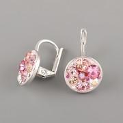 Náušnice CRAZY GIRL s kamínky Swarovski® Crystals 12mm - růžové