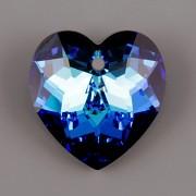 Swarovski Elements přívěsky 6215 – Srdce – Bermuda Blue – 18mm