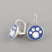 Náušnice PSÍ TLAPKY s kamínky Swarovski® Crystals 11mm modré