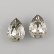 Slzička Swarovski Elements 4320 - Black Diamond - 18mm