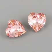 Srdíčka ANTIQUE SWAROVSKI 4831 - Light Rose F - 11mm