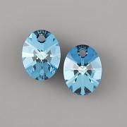 OVÁL Swarovski Elements 6028 - Bermuda Blue - 12mm