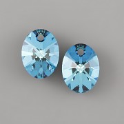 OVÁL Swarovski Elements 6028 - Bermuda Blue - 12mm