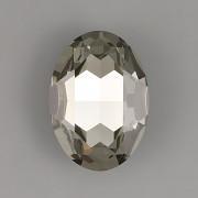 Ovál Swarovski 4127 - Black Diamond - 30mm