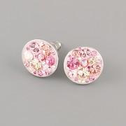 Puzety CRAZY GIRL s kamínky Swarovski® Crystals 12mm - růžové
