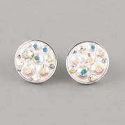 Puzety CRAZY GIRL s kamínky Swarovski® Crystals 12mm - Crystal AB