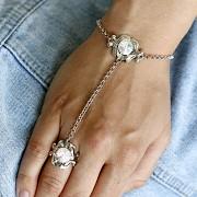 Náramek BOHO s prstenem pro Rivoli Swarovski 10mm