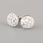 Puzety CRAZY GIRL s kamínky Swarovski® Crystals 10mm - Crystal AB