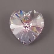 Swarovski Elements přívěsky 6228 – Srdce – Rosaline AB – 18mm
