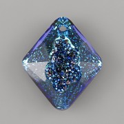 Swarovski přívěsky 6926 – Growing Crystal Rhombus – Bermuda Blue - 26mm