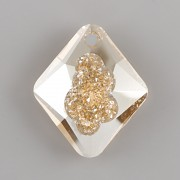 Swarovski přívěsky 6926 – Growing Crystal Rhombus – Golden Shadow - 26mm