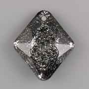 Swarovski přívěsky 6926 – Growing Crystal Rhombus – Silver Night - 26mm
