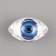 OKO EYE Swarovski Crystals 4775 – Modré – 18mm