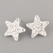 Puzety CRAZY STAR s kamínky Swarovski® Crystals 20mm - Crystal