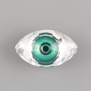 OKO EYE Swarovski Crystals 4775 - Zelené - 18mm