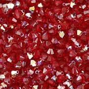 Swarovski Elements korálky XILION 5328 – Sluníčka – Scarlet AB – 3mm