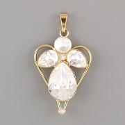 Přívěsek ANDĚL PRO ŠTĚSTÍ pro 4320 Slzičku Swarovski® Crystal - pozlaceno