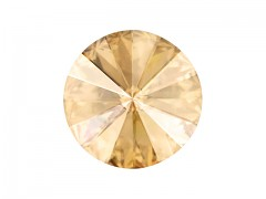 Swarovski Elements Rivoli 1122 – Golden Shadow Foiled – 18mm
