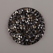 CRYSTAL ROCKS SWAROVSKI samolepící - Silver Shade na černém podkladu - 20mm