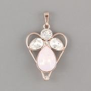 Přívěsek ANDĚL PRO ŠTĚSTÍ pro 4320 Slzičku Swarovski® Crystal - růžové zlato