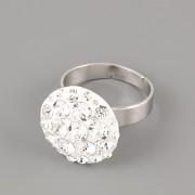 Prsten CRAZY MAMA s kamínky Swarovski Elements 18mm - Crystal