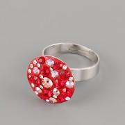 Prsten CRAZY MAMA s kamínky Swarovski Elements 18mm - červený