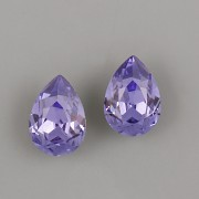 Slzička Swarovski Elements 4320 - Tanzanite F - 10mm