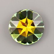 Round Stone Swarovski Elements 1201 – Sahara Foiled – 27mm