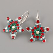 Náušnice CRAZY STAR s kamínky Swarovski® Crystals 20mm - vánoční